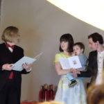 Circus themed naming ceremony
