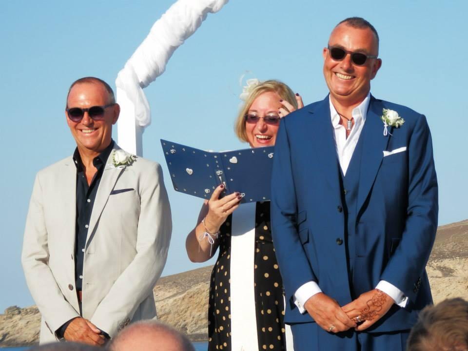Mykonos wedding celebrant