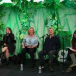 Chairing panel at Greenbelt Festival