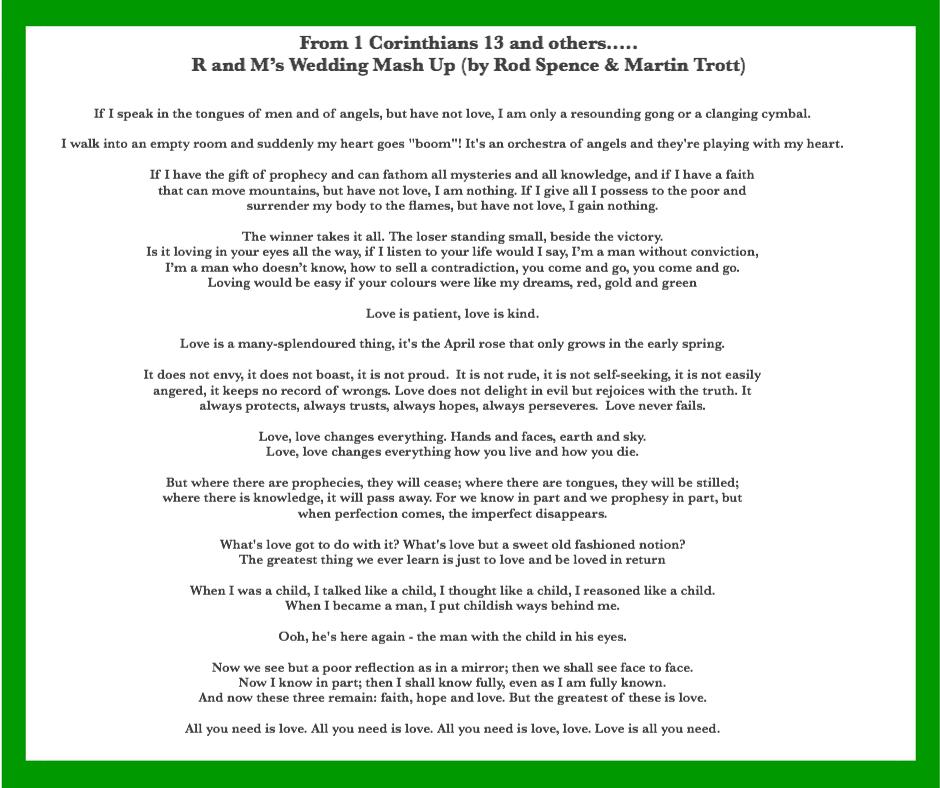 1 Corinthians 13 Wedding Reading.Choosing Wedding Readings To Make Your Heart Go Zing Ruby B